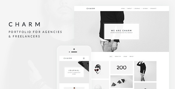 ThemeForest Charm Portfolio for Freelancers & Agencies 11364023