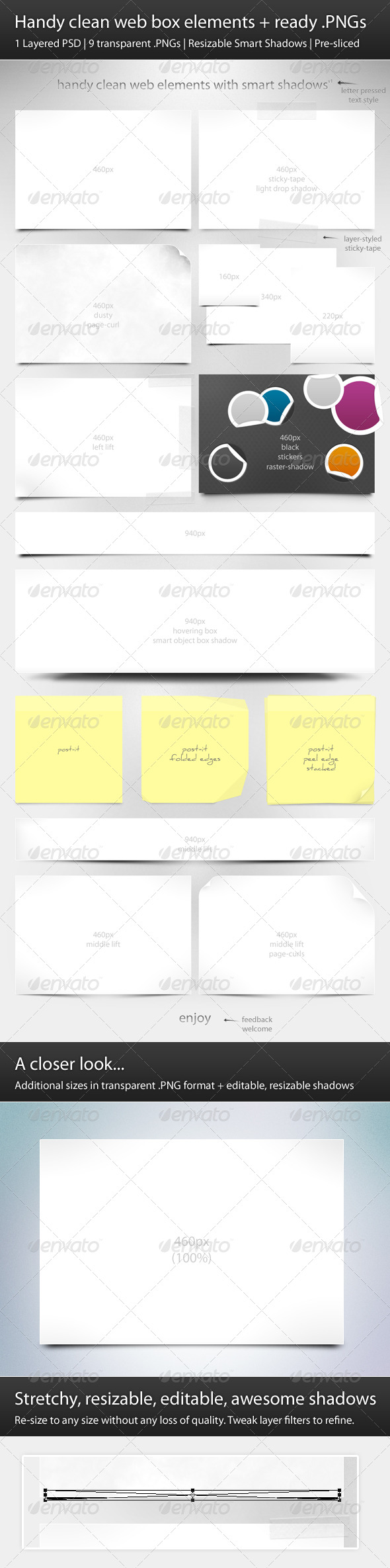 GraphicRiver Handy Clean Web Box Elements & Ready PNGs 140048