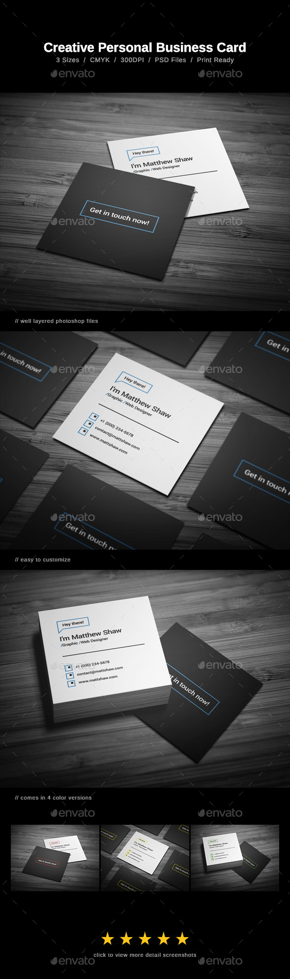 GraphicRiver Creative Personal Business Card 11364042