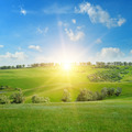scenic fields, hills and sunrise - PhotoDune Item for Sale