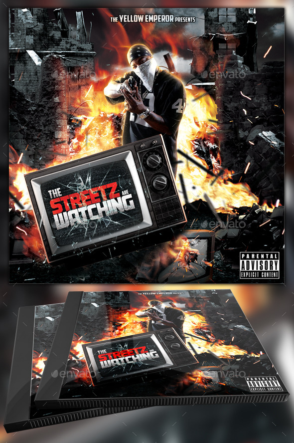 GraphicRiver Streetz are Watching Mixtape CD Template 11364139