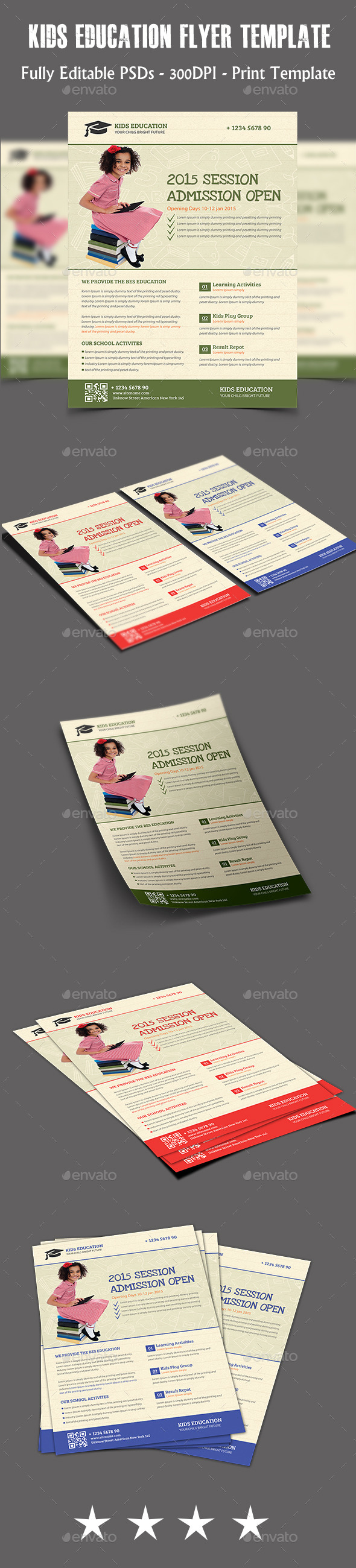 GraphicRiver Kids Education Flyer Temp 11299871