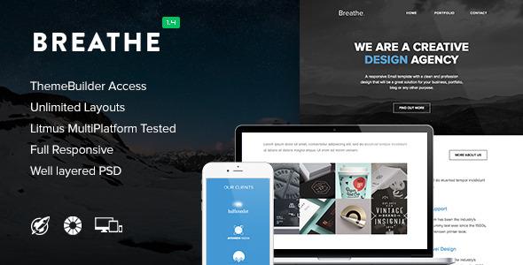 Breathe - Responsive Email + Themebuilder Access