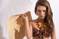 girl with bikini and hat - PhotoDune Item for Sale