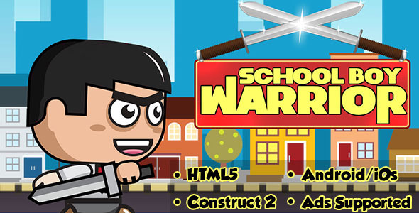 School Boy Warrior - HTML5 Android (CAPX)