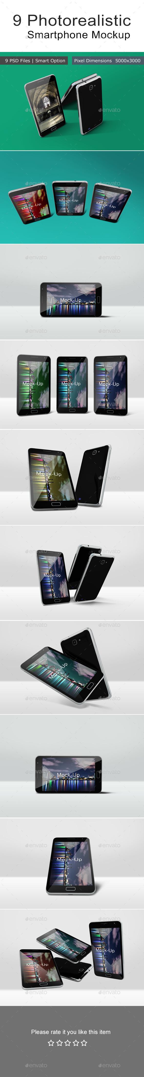 GraphicRiver 9 Photorealistic Smartphone Mockup 11364286