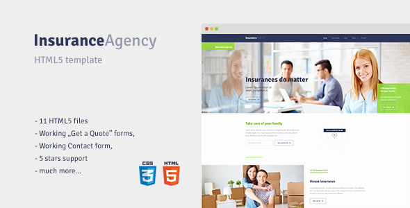 ThemeForest Insurance HTML5 template for Insurance Agency 11291418