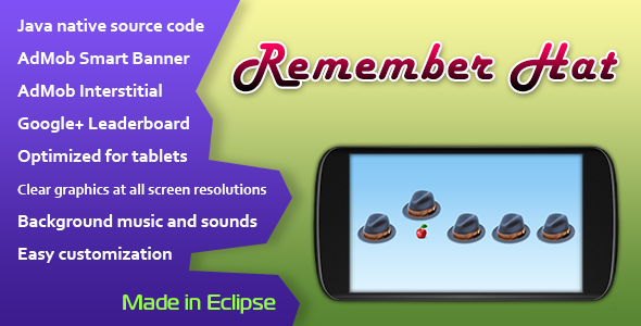 CodeCanyon Remember Hat Game with AdMob and Leaderboard 11364481