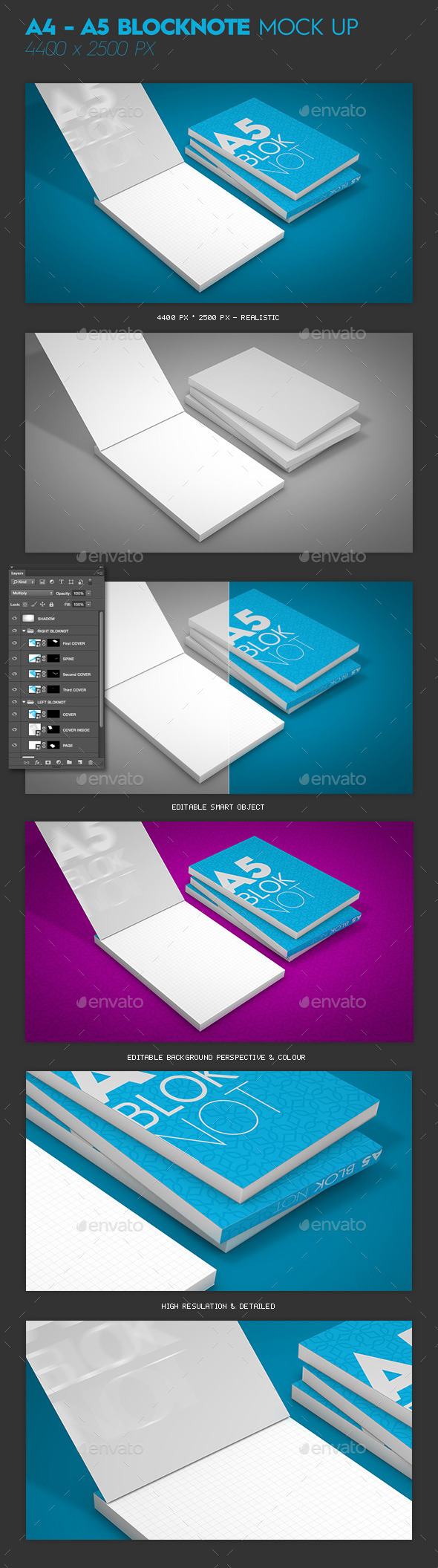 GraphicRiver A4 A5 Blocknote Mock-Up 11317097