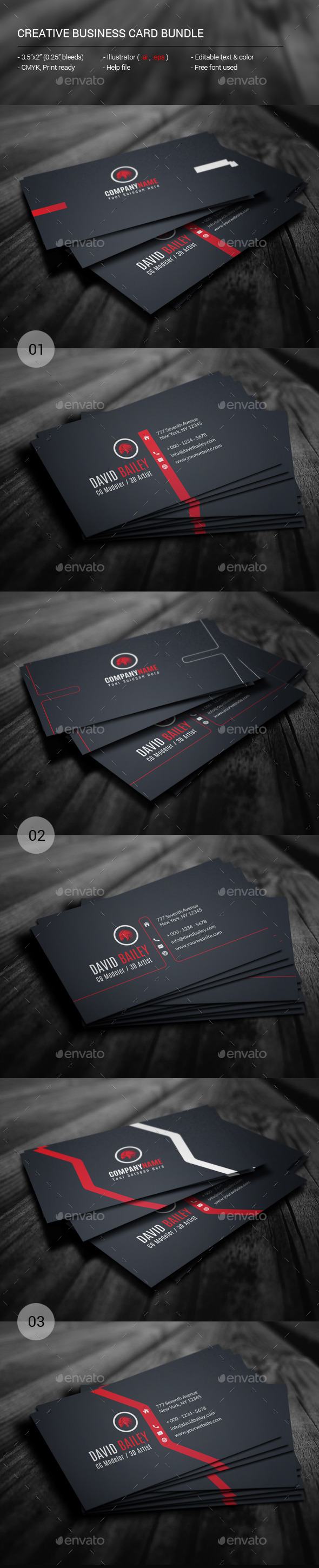 GraphicRiver Creative Business Card Bundle 11364589