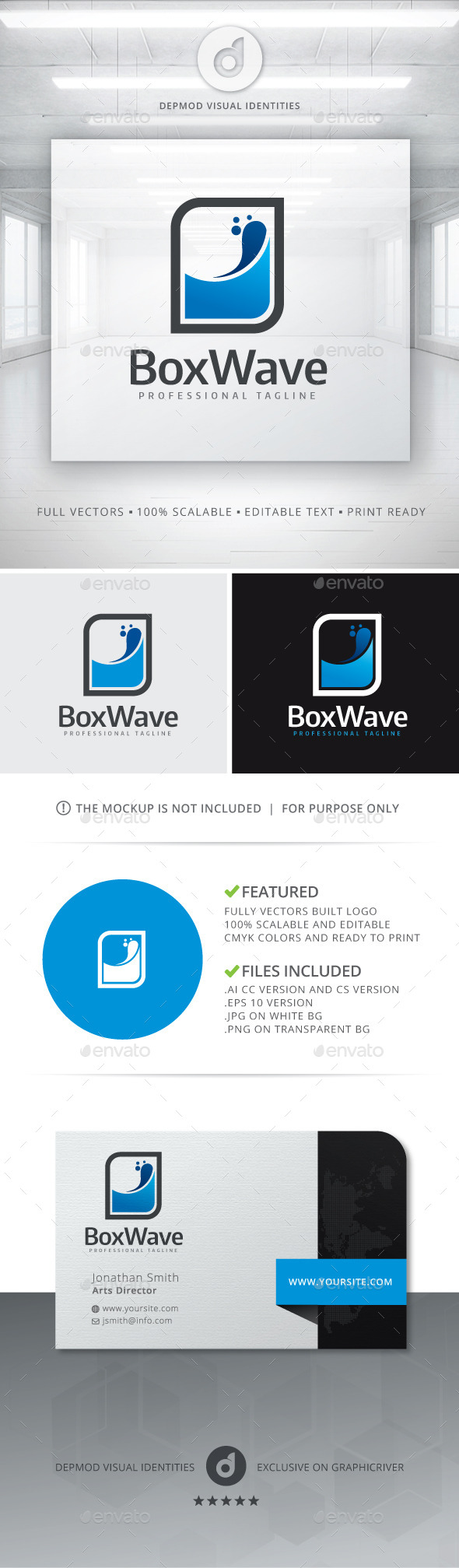 GraphicRiver Box Wave Logo 11364614