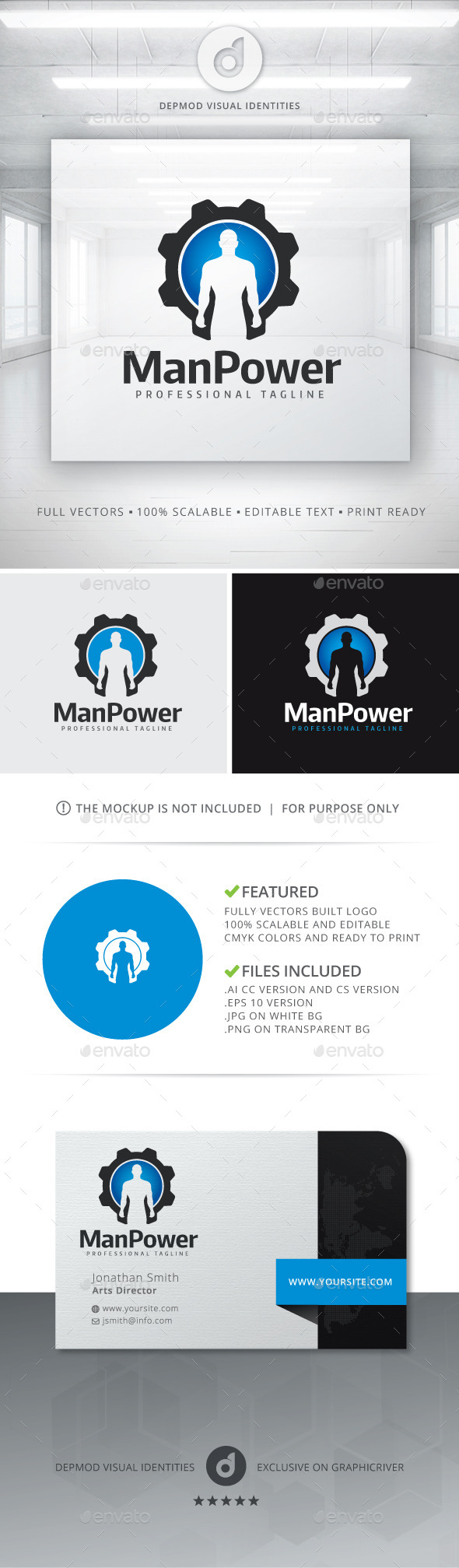 GraphicRiver Man Power Logo 11364752