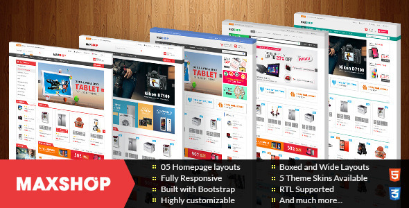 ThemeForest Maxshop Multipurpose Responsive Prestashop Theme 11364909