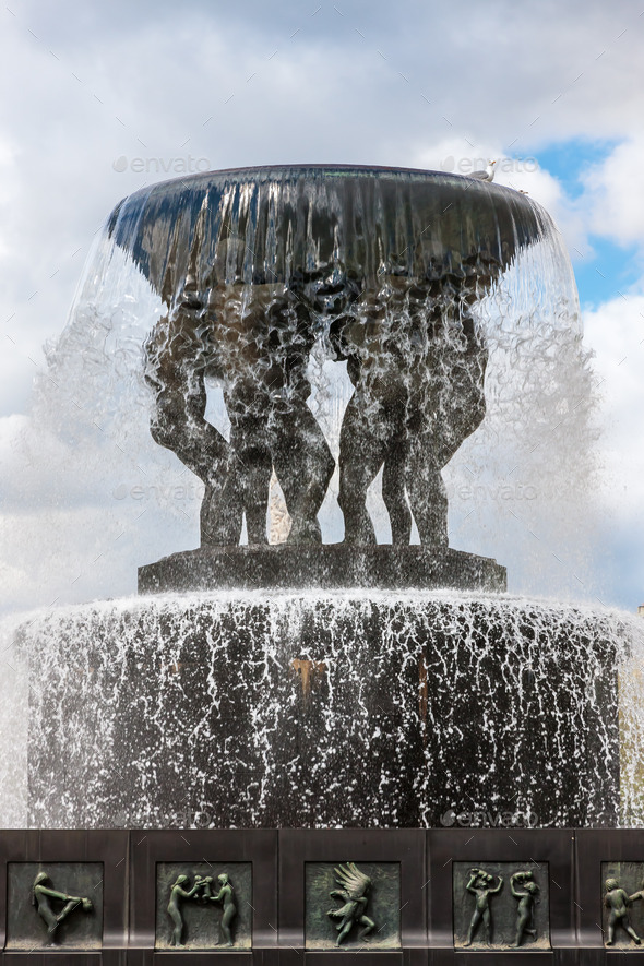 Sculptures at the Vigeland Park in Oslo, Norway