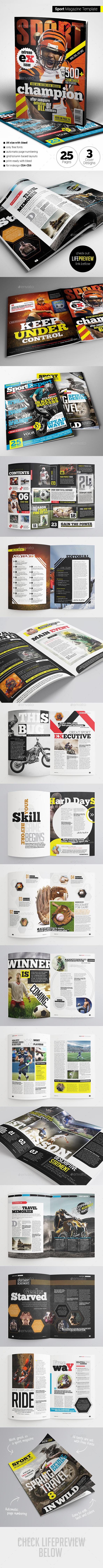 GraphicRiver Sport Magazine 11365002