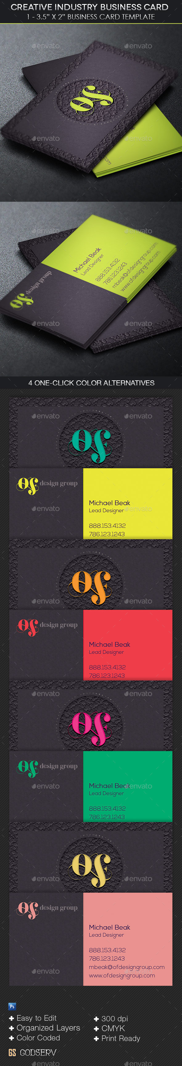 GraphicRiver Creative Industry Business Card Template 11307832