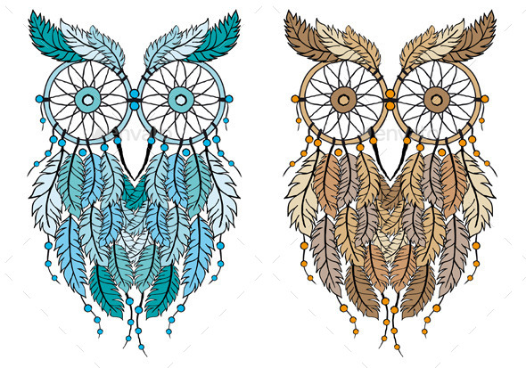 GraphicRiver Dream Catcher Owl 11365395