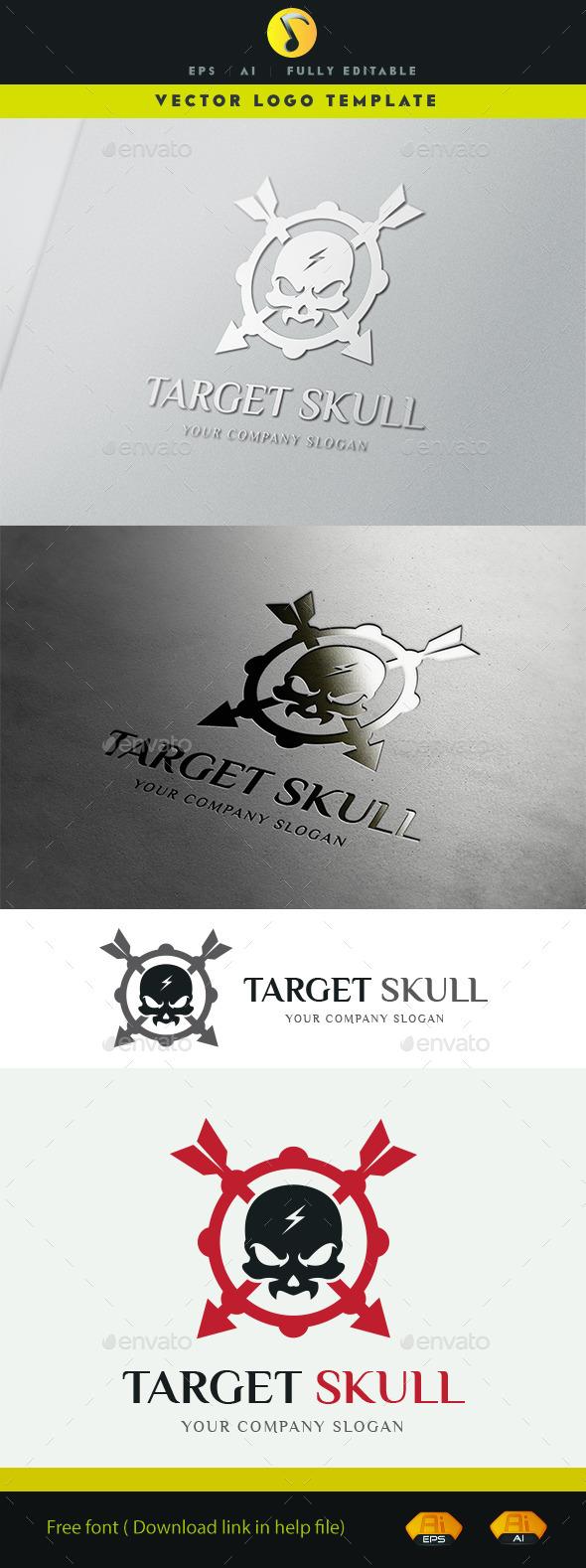 GraphicRiver Target Skull 11365552