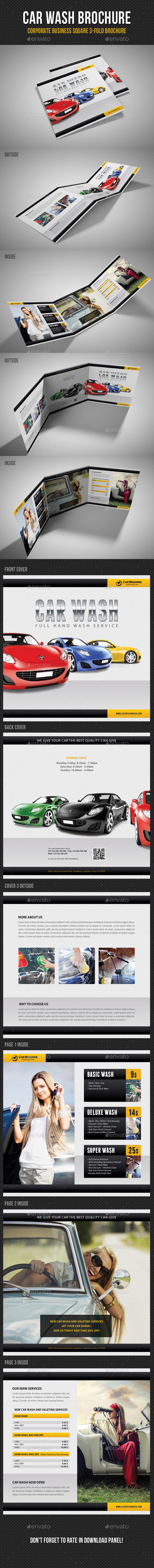 GraphicRiver Car Wash Square 3-Fold Brochure 01 11365621