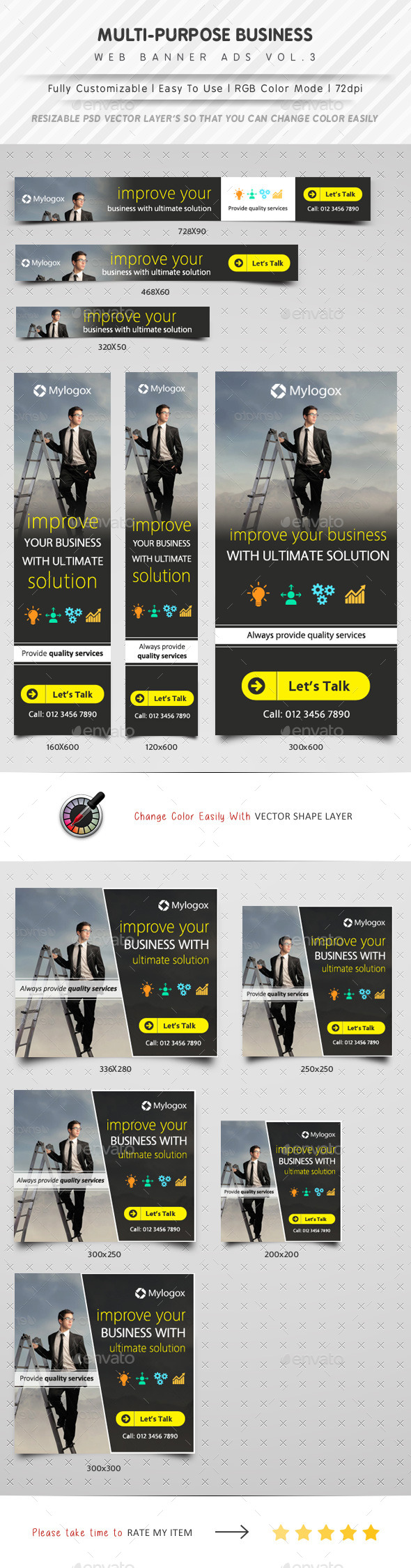 GraphicRiver Multipurpose Web Banner Ads Vol.3 11366152