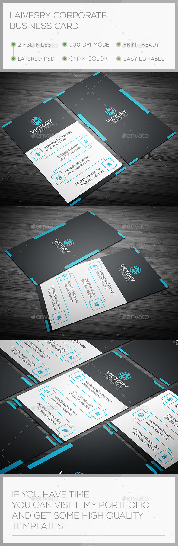 GraphicRiver Laivesry Corporate Business Card 11366202