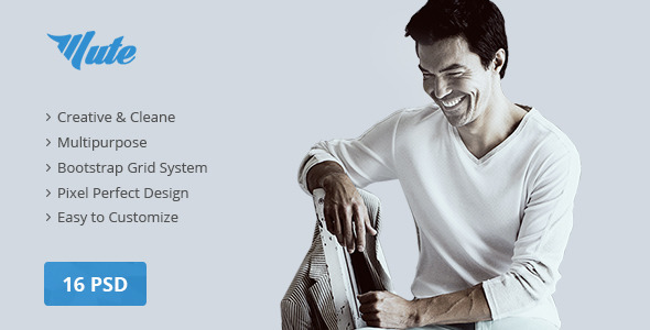 ThemeForest Mute Multipurpose Creative PSD Template 10648025