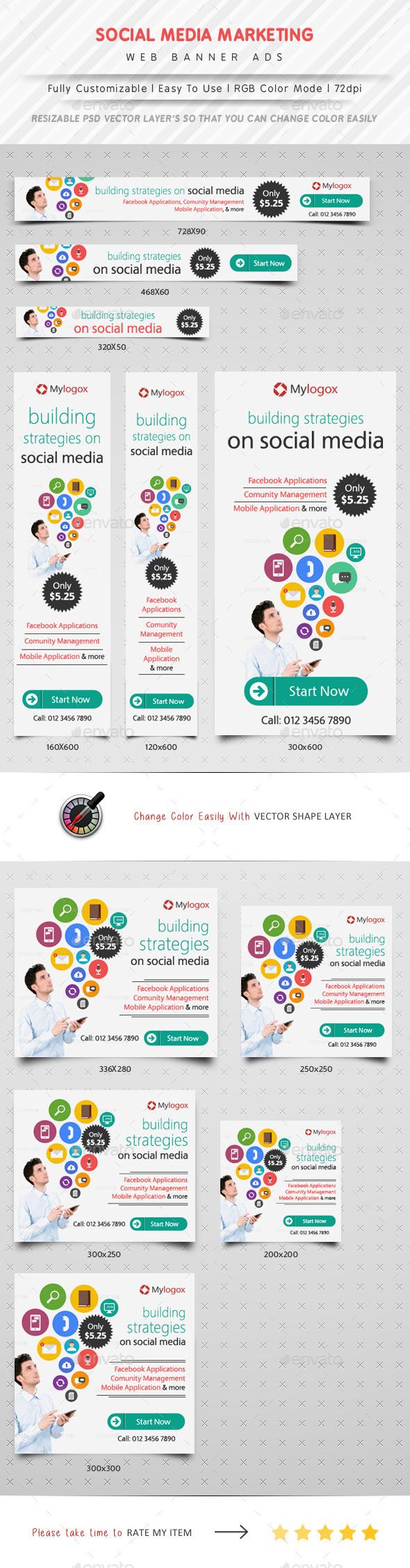 GraphicRiver Social Media Marketing Web Banner Ads 11366290