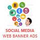 Social Media Marketing Web Banner Ads - GraphicRiver Item for Sale