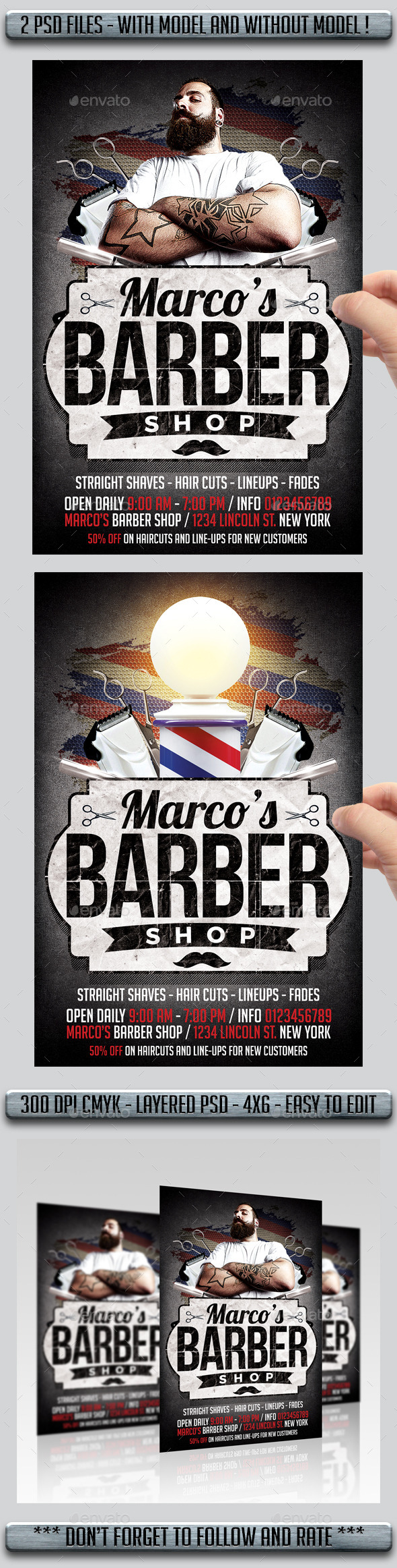 GraphicRiver Barbershop Flyer 11366423
