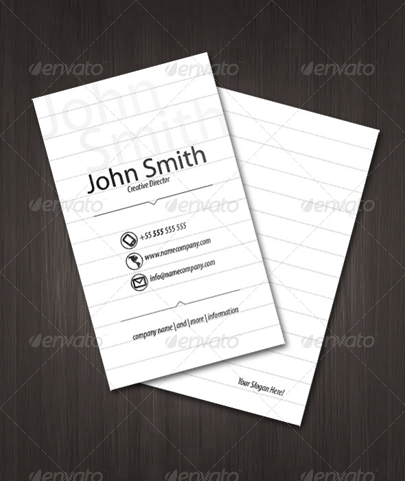 Paper Visit Card - Creative Business Cards