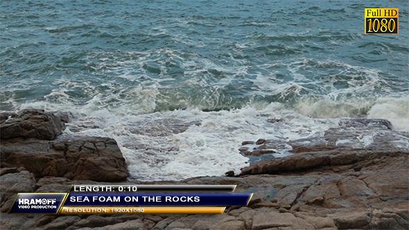 Sea Foam On The Rocks