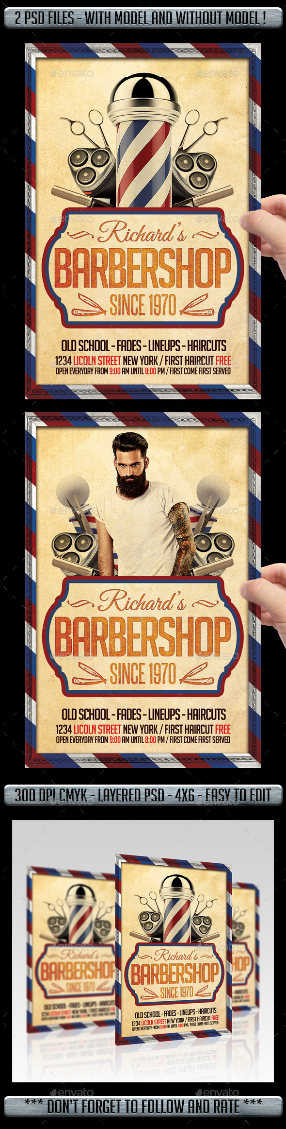 GraphicRiver Barber Shop Flyer 11366957