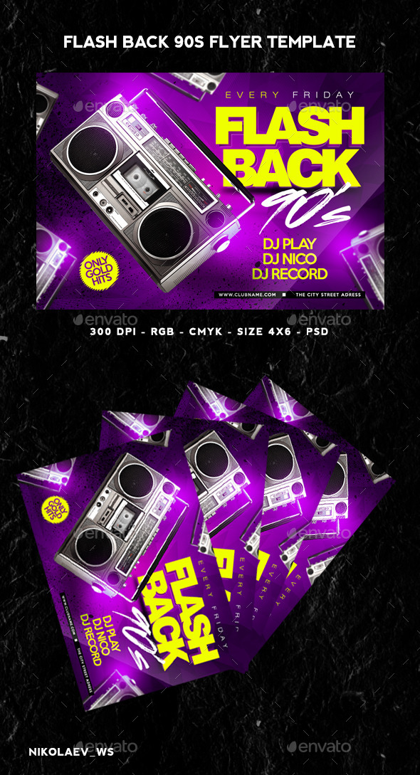 GraphicRiver Flashback 90s Flyer 11367104