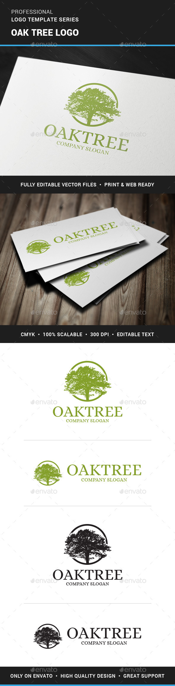 GraphicRiver Oak Tree Logo Template 11367141