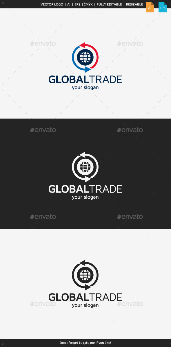 GraphicRiver Global Trade Logo Template 11367678