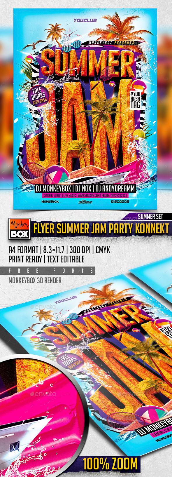 GraphicRiver Flyer Summer Jam Party Konnekt 11367707