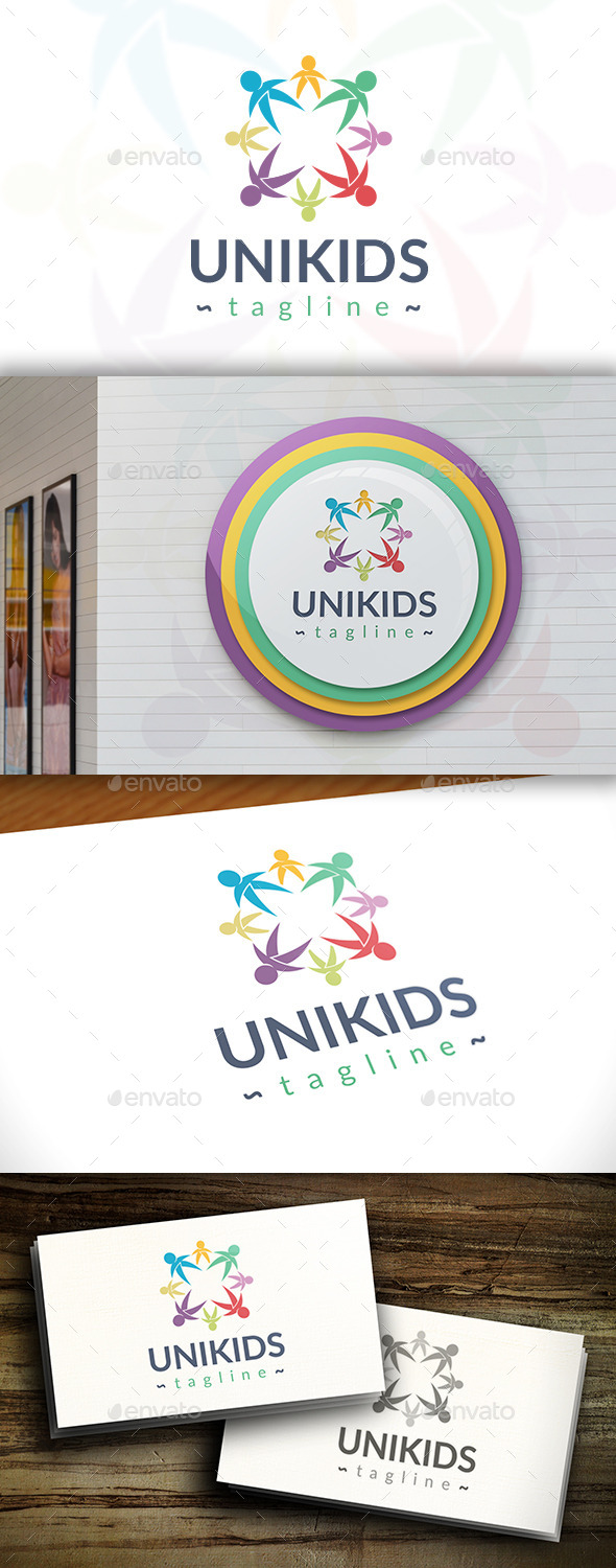 GraphicRiver United Kids Logo 11367791