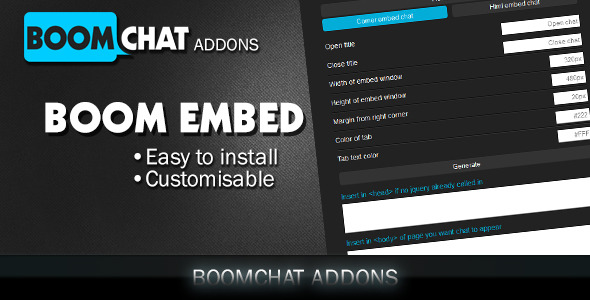 CodeCanyon Boom embed for Boomchat PHP AJAX chat 11367847