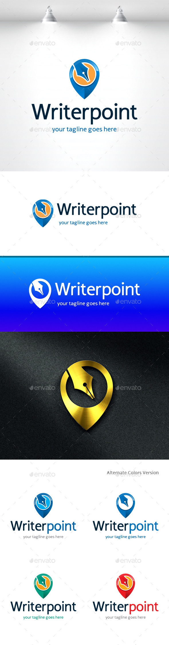 GraphicRiver Writer Point Logo 11368802