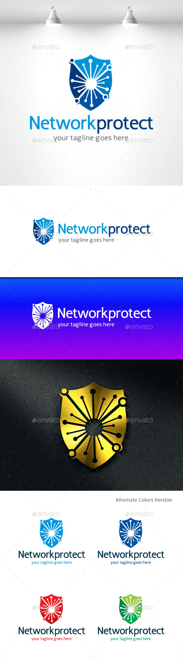 GraphicRiver Network Protect Logo 11368898