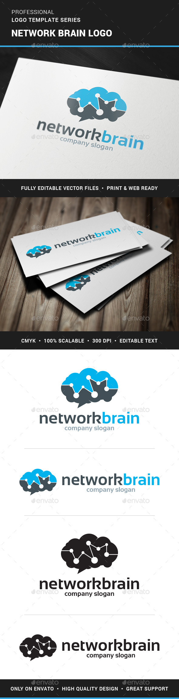 GraphicRiver Network Brain Logo Template 11369032
