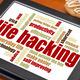 life hacking word cloud - PhotoDune Item for Sale