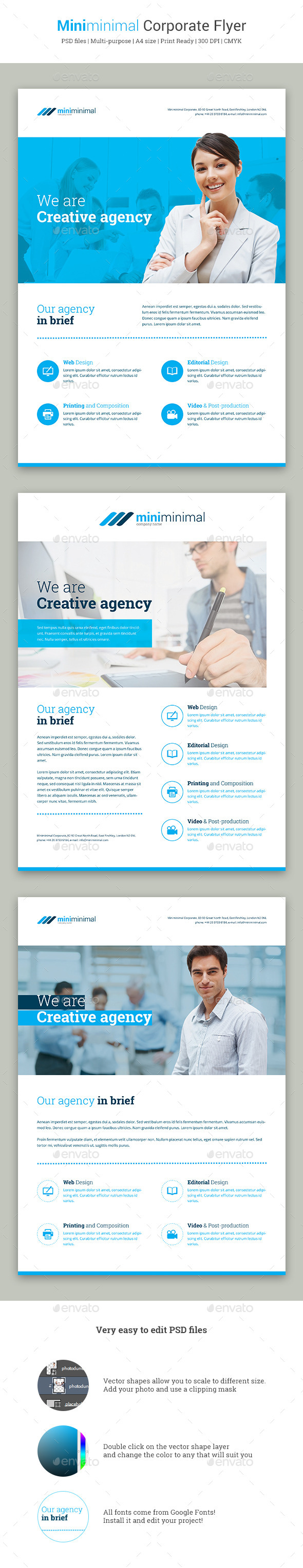 GraphicRiver Miniminimal Corporate Flyer 11369136