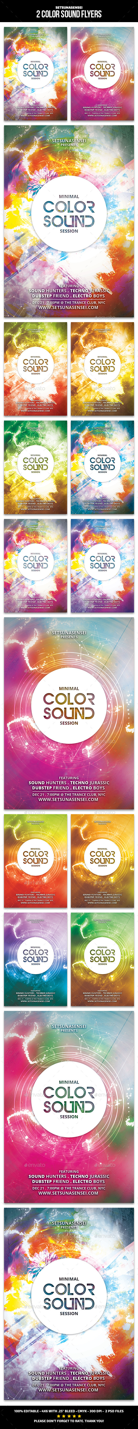 GraphicRiver 2 Color Sound Flyers 11369178