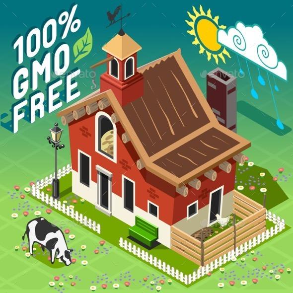 GraphicRiver Isometric GMO Free Farming 11369239