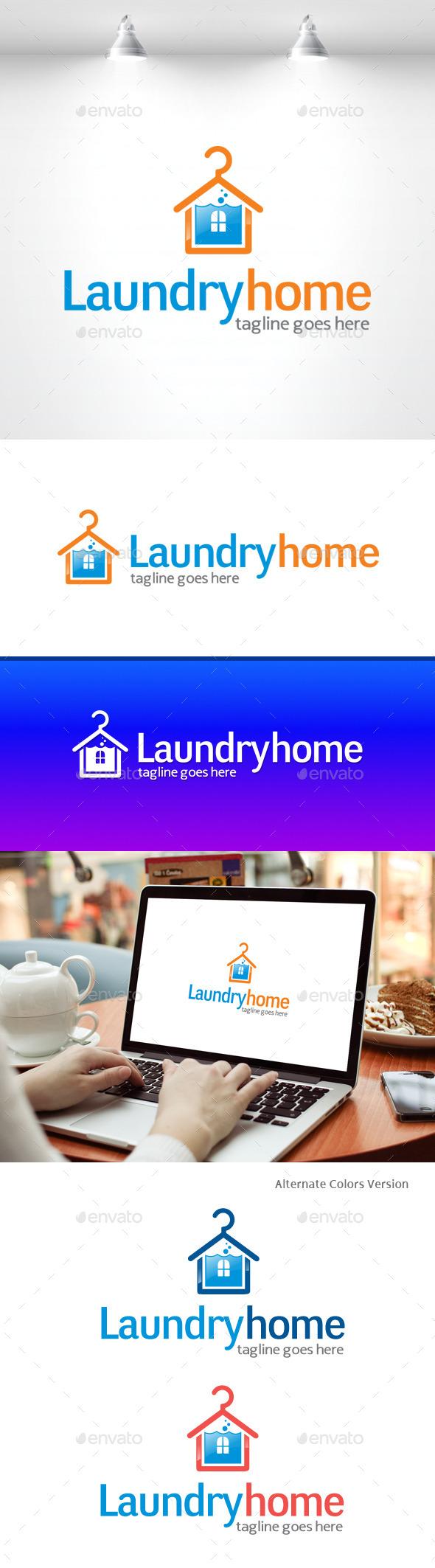 GraphicRiver Laundry Home Logo 11369259