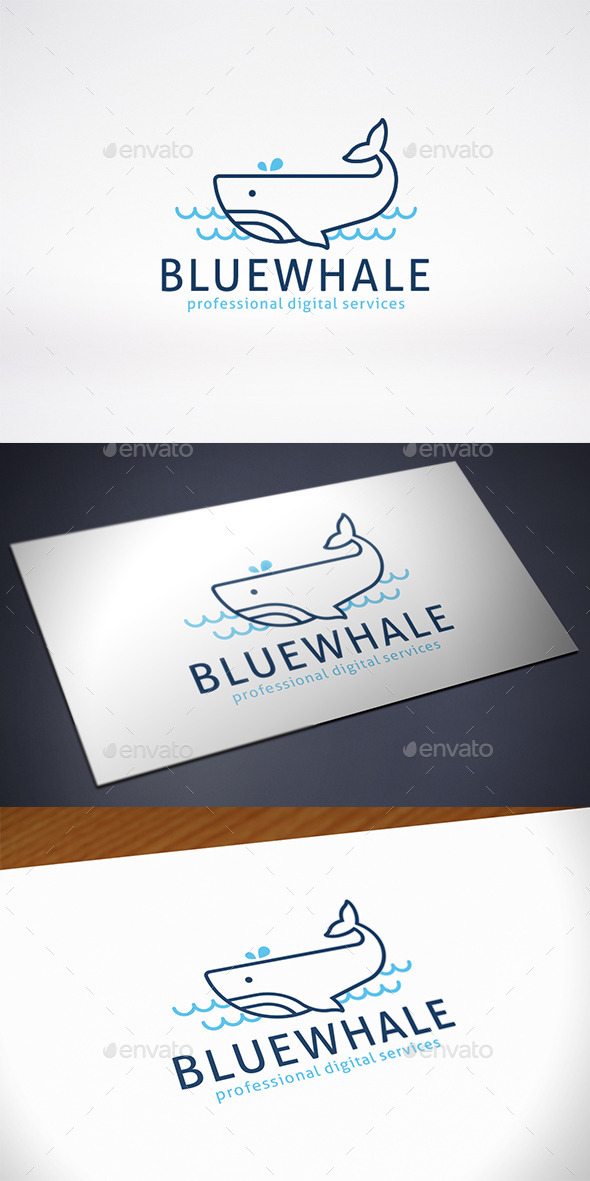 GraphicRiver Blue Whale Design Logo Template 11369505