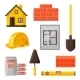 Industrial Icon Set Of Housing Construction - GraphicRiver Item for Sale