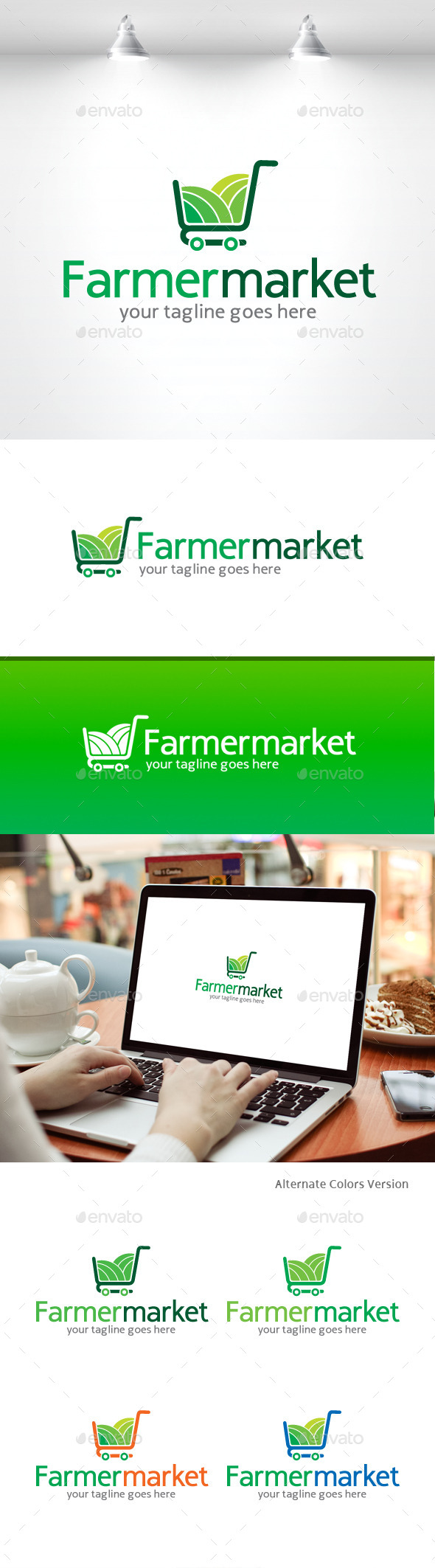 GraphicRiver Farmer Market Logo 11369581