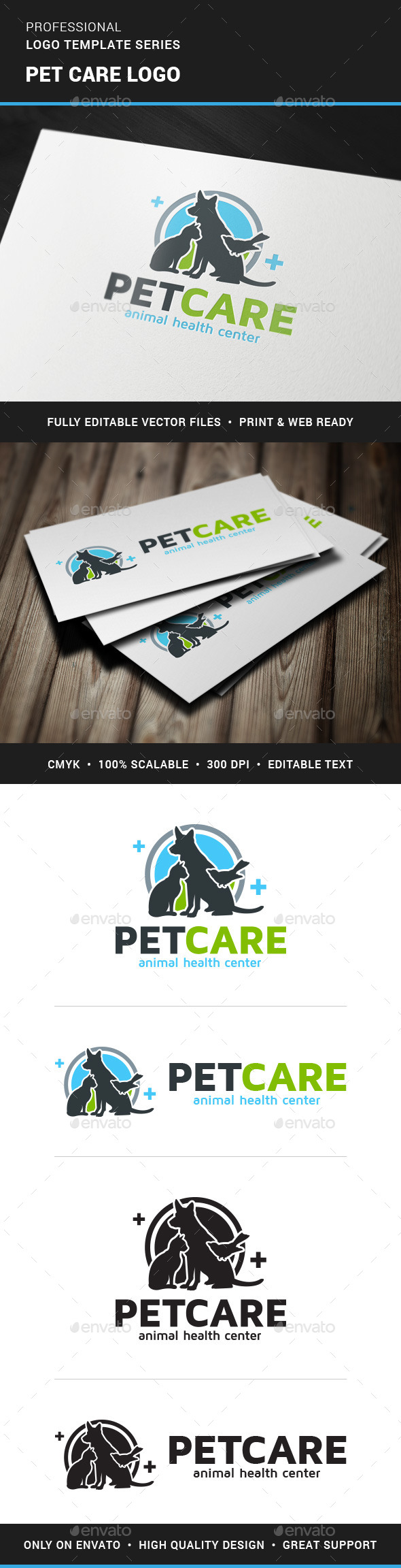 GraphicRiver Pet Care Logo Template 11369584